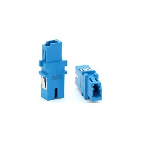 Fiber optisk simplex LC/SC multimode adapter, plastik, blå