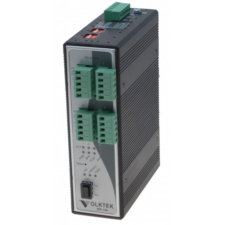 Serielportserver 4 x RS232 / 485 single port 10/100 Mbit, SFP multi og singlemode