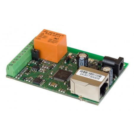 Board til fjernkontrol og måling via Internet/LAN, 1 x DI, 1 x AI, 1 x Relæ, 1-Wire temperaturføler