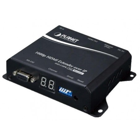 HD HDMI extender over IP med PoE - Digital Signage, modtagermodul
