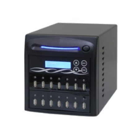 Duplikator til 13 x USB sticks. USB duplicator tower, sort