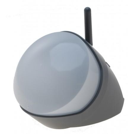 Udendørs trådløs PIR sensor - infrarød bevægelsessensor med antenne, batteridrevet, 35 m