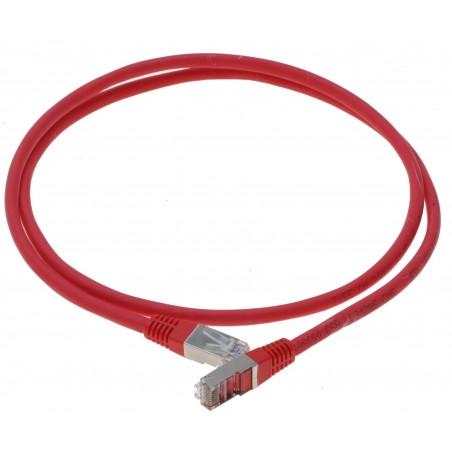Cat. 6 netværkskabel, RJ45, STP, AWG28, rød, 1,0m