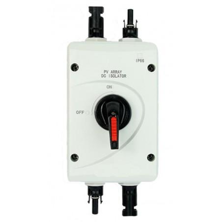 DC afbryder - switch 32A 1000V med MC4 stik. Sikkerhedsafbryder til solpaneler