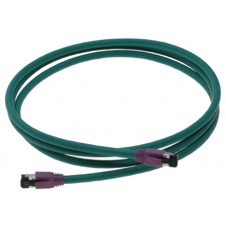 Industrielt cat. 8 netværkskabel, RJ45, S/FTP - PiMF, LSZH, 40G, 2000 MHz, grøn, 2,0m