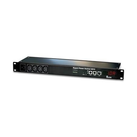 Tænd og sluk udstyr via netværk, 8 x IEC C13 udgange, op til 10A, RJ45, indgange for 2 temp/fugt sensorer