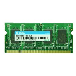 DDR2 SO-DIMM RAM 200PIN 2GB, 667 MHz (PC2-5300) CL5, (128Mx8) x16 EA, Wide Temperature, D2SP28082XH30ABI