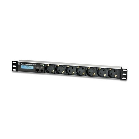 Tænd og sluk udstyr via netværk, 7 x Schuko udgange, op til 16A, 2 x RJ45