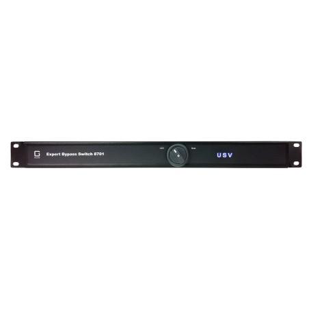 Manuel bypass-switch, 6 x IEC C13 10A, 1 x IEC C19 16A,