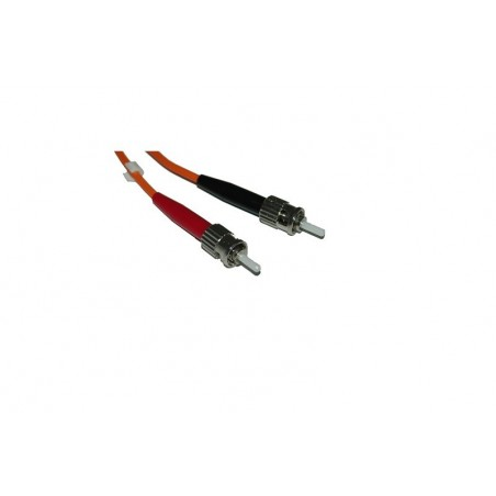 Multimode ST fiber patchkabel, 62,5-125 μm, 10 meter