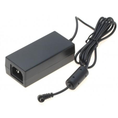 12VDC / 2,5 Amp. strømforsyning, 100-240 VAC, 50-60Hz, C-14 netstik, DC stik: 5,5 / 2,5mm