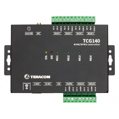 GSM-GPRS fjernkontrol I/O modul, datalogger, DI, RO, MODBUS