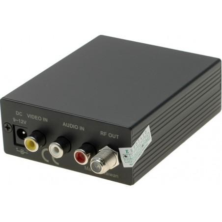 TV RF-modulator sender videobilledet ud på antennekablet