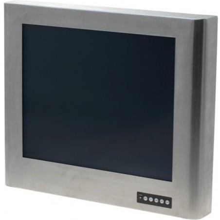 "17"" TFT Industriel skærm, rustfrit stålkabinet, IP65, touch (USB), VGA"