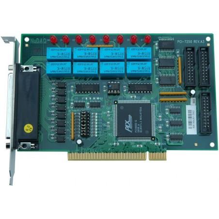 Adlink PCI-7250. 8 kanalers relæ output, 8 kanalers isolerede digitale input, PCI
