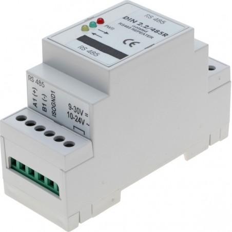 Isoleret RS485 repeater til DIN-skinne montage, optisk isolation