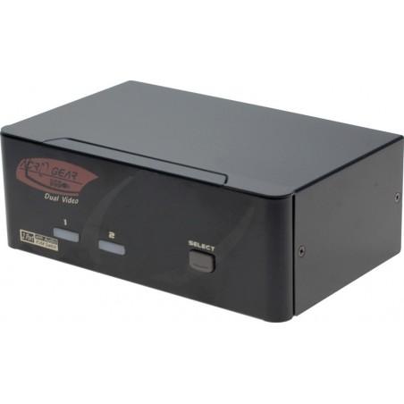 KVM omskifter til 2-4 pc'er med DVI, lyd & USB