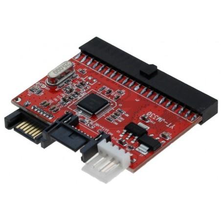 Omformer SATA til IDE. Tilslut SATA hardiske til IDE interface og omvendt. 40 pin