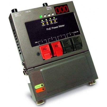 test PoE strømforsyningen. test effekten af PoE over maks. 100 meter nettverkskabel