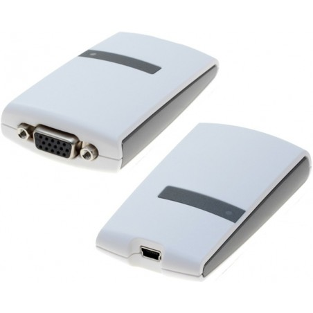 Eksternt grafikkort, VGA, via USB2.0 porten