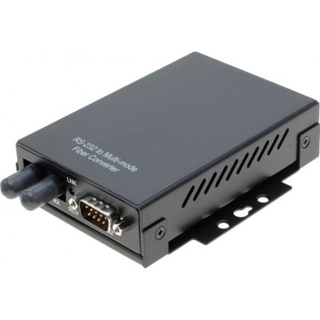 RS232 til optisk fiber konverter. Til Multi Mode fiber, 50/125 og 62,5/125, ST stik