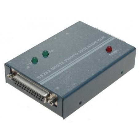 Seriel RS232 optisk isolator. Beskytter tilsluttet udstyr og computer