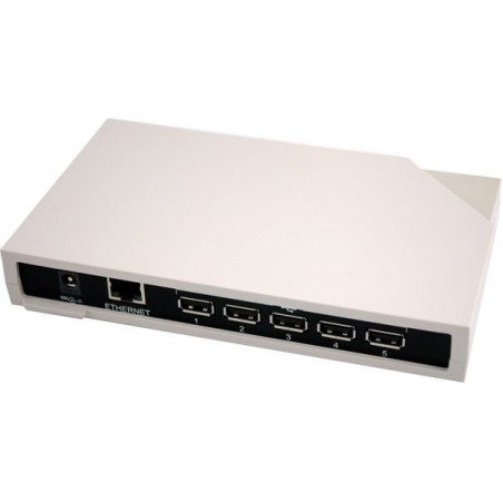 5 USB porte over Ethernet. Tilgå USB udstyr via netværket – professionel version