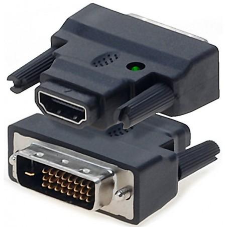 HDMI til DVI omformerstik. Tilslut DVI udstyr til HDMI porten