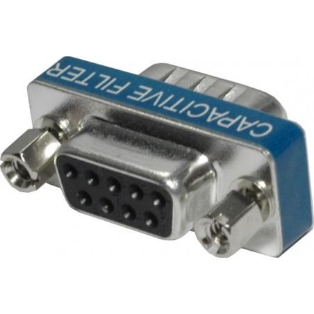 DB9 adapter med EMC beskyttelse. Beskyt COM porten mod støj ved direkte tilslutning eller mellem to kabler