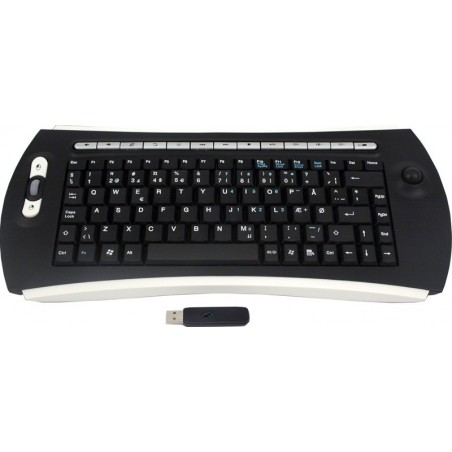 Trådløst tastatur med trackball
