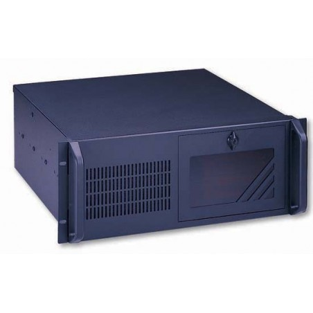 "4U 19"" PC-kabinet, ATX, sort, ekstra dyb"