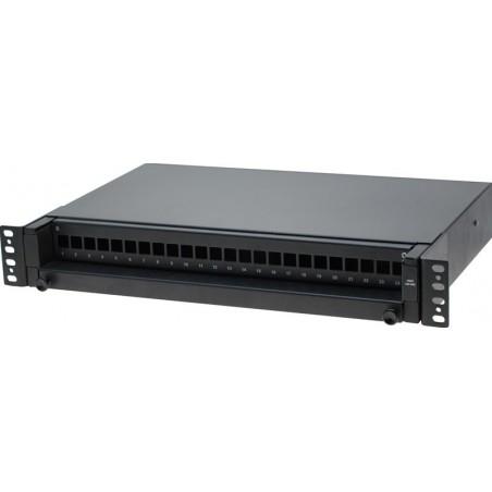 24 ports Patch panel til LC stik, sort