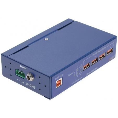 Optoisoleret USB 1.1 HUB med 4 porte. Beskytter USB-enheder og pc'er mod overspænding