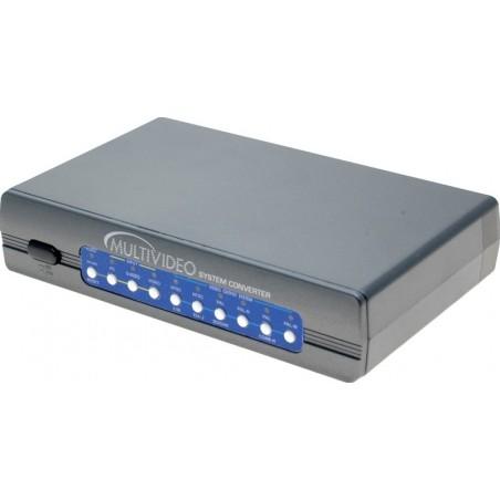 VGA-composite konverter. Konverterer fra video til VGA og omvendt – til alle videoformater. Omformer PAL til NTSC og omvendt