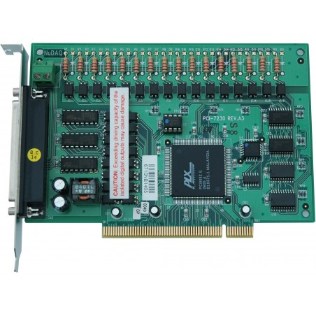 ADLINK PCI-7230. 16 kanalers isolerede digitale input, 16 kanalers isolerede digitale OC-output , PCI