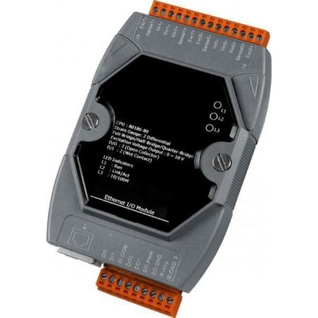 7 x indgange til termoføler (differential), pt100, Ni, Belco, til LAN med PoE, 10-30VDC