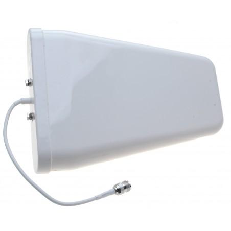 9 dBi Logperiodisk GSM-LTE antenne, kort kabel med N hun, mastebeslag