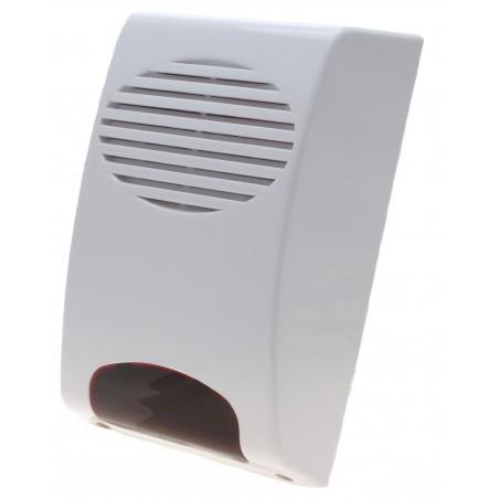 120dB udendørs trådløs siren med lys, 120dB lyd der kan høres inden for 500 meter
