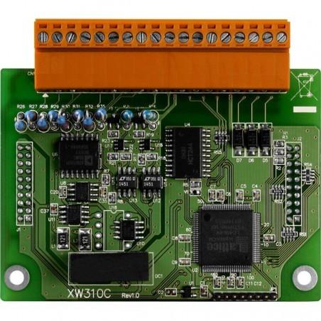 4 differentielle eller 8 single-ended analog indgange Udvidelsesmoduler til L-CON-LOG serien
