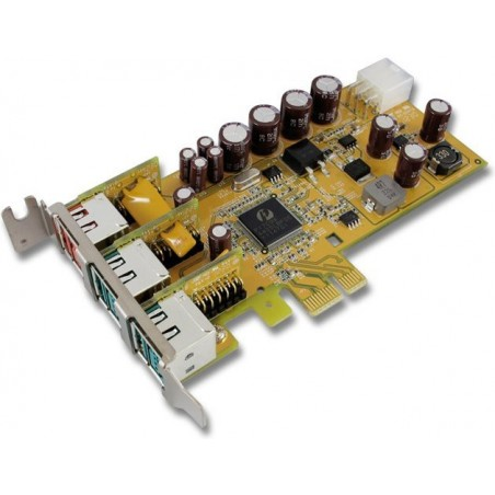 Powered USB LowProfile PCI Express kort