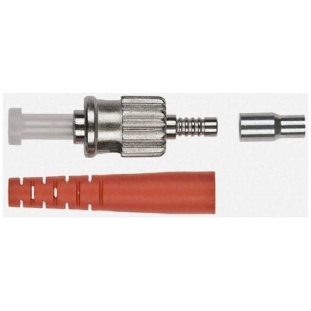 Løst ST hanstik til kabelmontage, simplex