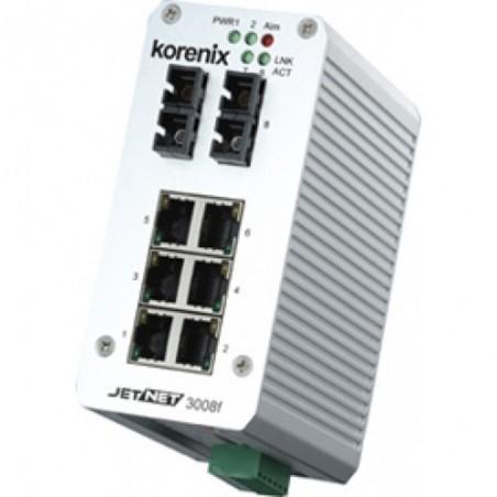 8 ports switch 6 x 10/100 RJ45 + 2 x SC 100Mbit Multi Mode - Unmanaged, 10-48VDC