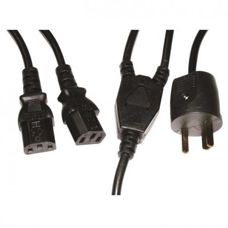 Powerkabel- netledning med EDB til 2xC13 stik