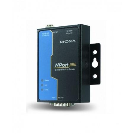1 port serielportserver, MOXA Nport 5110A, RS232