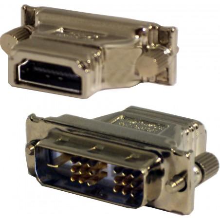 HDMI til DVI omformerstik. HDMI han kabel omdannes til DVI-D han stik.
