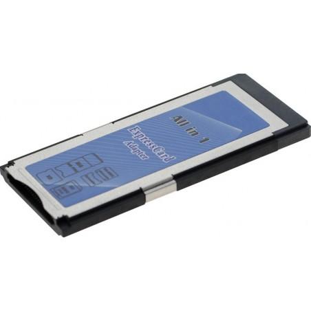 ExpressCard til Flashkort adapter. Læser og skriver 12 forskellige typer flashkort