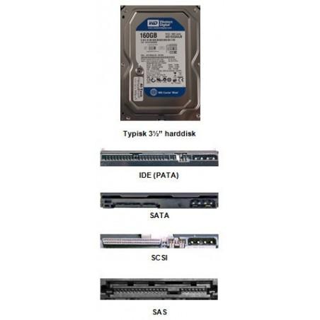 """Harddiske 1,8"""" 2½"""" og 3½"""" alle typer, mærker samt kapacitet"""