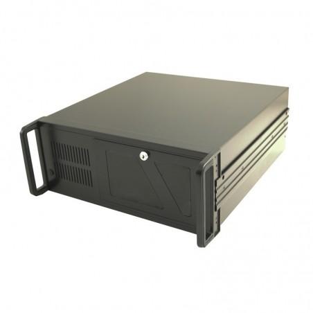 """4U 19"""" kabinet, ATX, 45cm dyb, sort, USB udtag på front"""