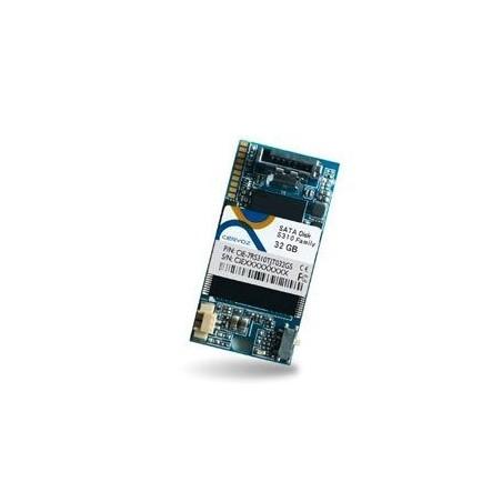 Industriflash 32GB, DOM SATA MLC XL med udvidet temperatur -40~+85°C til vandret (venstre) montering
