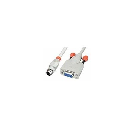 RS232 seriel data kabel (9 pin til 8 pin mini DIN han)